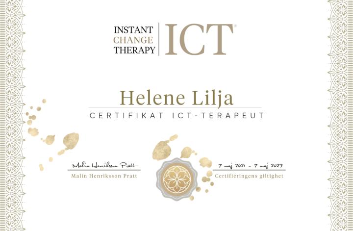 Helene Lilja Cert. ICT Terapeut